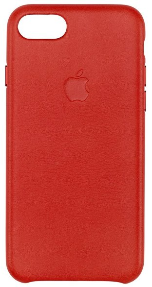 Apple Leather Case In Red